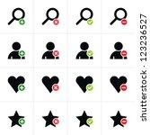 16 web pictogram set. loupe ...