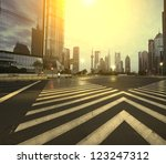 The century avenue of the scene  in shanghai,China - stock photo
