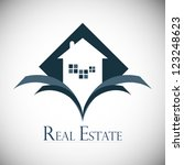 real estate design concept. | Shutterstock .eps vector #123248623