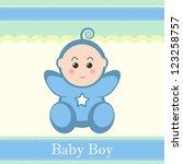 cute baby boy card design.