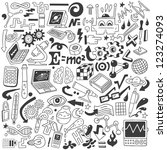 science   doodles collection | Shutterstock .eps vector #123274093