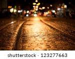 Tram Rails Night Freiburg - Fine Art prints