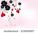 abstract floral background for... | Shutterstock . vector #123303007