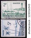 guinea   circa 1959  a stamp... | Shutterstock . vector #123316543