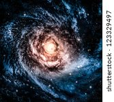 awesome spiral galaxy many... | Shutterstock . vector #123329497