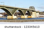 the peace bridge  which is one... | Shutterstock . vector #123345613