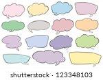 illustration of various shapes... | Shutterstock .eps vector #123348103