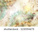 vector textured background with ... | Shutterstock .eps vector #123354673