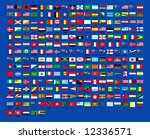 257 world country flags... | Shutterstock . vector #12336571