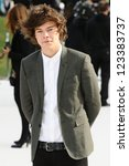 Harry Styles arriving for the Burberry Prorsum catwalk show as part of London Fashion Week SS13, Kensington Gardens, London. 17/09/2012 Picture by: Steve Vas - stock photo