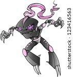 warrior ninja cyborg soldier... | Shutterstock .eps vector #123416563