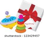gift box with children pyramid...