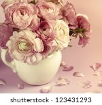 Flowers art design. Wedding holiday card - stock photo