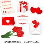 set for valentine's day | Shutterstock .eps vector #123440653