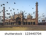 Jama Masjid mosque in Old Delhi, India - stock photo