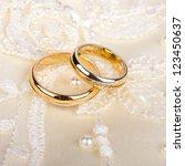 wedding rings | Shutterstock . vector #123450637