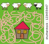 sheep and ram   labyrinth | Shutterstock .eps vector #123455447