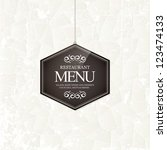 restaurant menu design | Shutterstock .eps vector #123474133