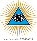 eye of providence   pyramid  ... | Shutterstock .eps vector #123486517
