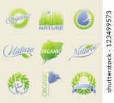 nature labels  badges  symbols... | Shutterstock .eps vector #123499573