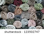 traditional fabric store with...