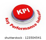 3d illustration of KPI ( Key Performance Indicator ) button - stock photo