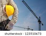 Builder Worker In Uniform And...