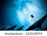 satellite dish transmission... | Shutterstock . vector #123519073