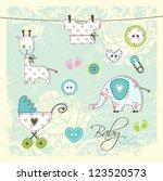 baby shower design elements  ...