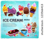 retro ice cream menu | Shutterstock .eps vector #123566413