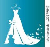 wedding dress   Shutterstock .eps vector #123579847