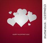 valentine's day card | Shutterstock .eps vector #123594013
