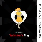 valentine's day cards 3   Shutterstock .eps vector #123614923