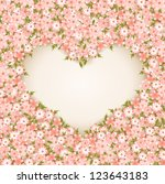 Stock vector valentine s day card with flowers vector illustration 123643183