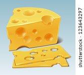 cheese vector | Shutterstock .eps vector #123643297