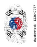 south korean finger print | Shutterstock . vector #123647797