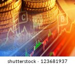 finance background with graph... | Shutterstock . vector #123681937