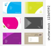 vector   set of modern and... | Shutterstock .eps vector #12369592