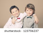 Brothers Bow Tie During Christmas - Fine Art prints