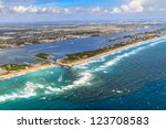 aerial view on florida beach... | Shutterstock . vector #123708583