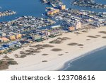 Aerial View on Florida Beach near St. Petersburg - stock photo