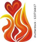 Herz IN Flammen-Clip-Art, Vektor Herz IN Flammen - 1000 ...