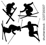 freestyle skier silhouette on... | Shutterstock .eps vector #123720337