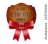 vintage cardboard old paper... | Shutterstock .eps vector #123724243