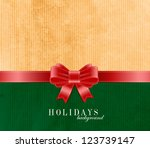 holiday vector old vintage... | Shutterstock .eps vector #123739147
