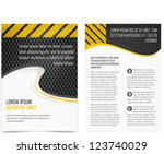 Vector brochure pages. Template. - stock vector
