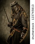Medieval Knight With Sword And...