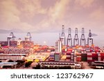 china shenzhen  yantian port | Shutterstock . vector #123762967
