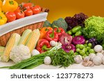 composition of vegetable with... | Shutterstock . vector #123778273