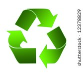 recycling sign in light and... | Shutterstock . vector #12378829
